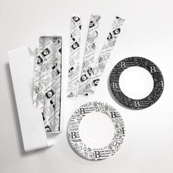 キャンドゥ 紙皿 割り箸