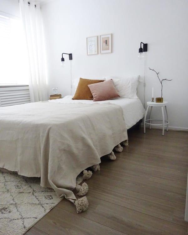 海外ホワイトインテリア実例:ベッドルーム2