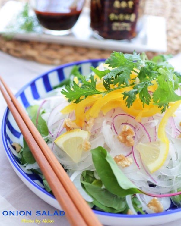 食べるラー油のドレッシングサラダ