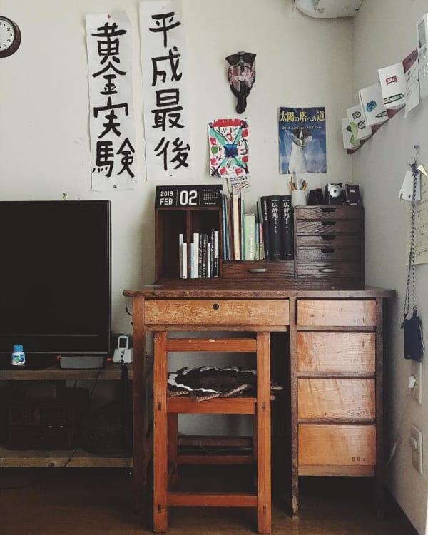 古家具を取り入れたナチュラルインテリア4