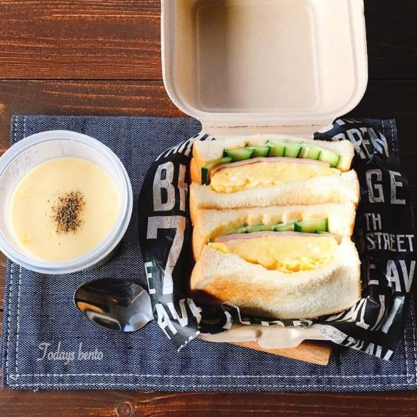 ふわっと玉子とキュウリのサンドイッチ