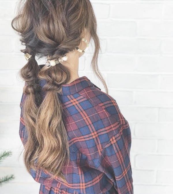 ロングヘアのまとめ髪①ポニーテール・編み込み15