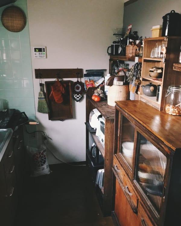 古家具を取り入れたナチュラルインテリア5