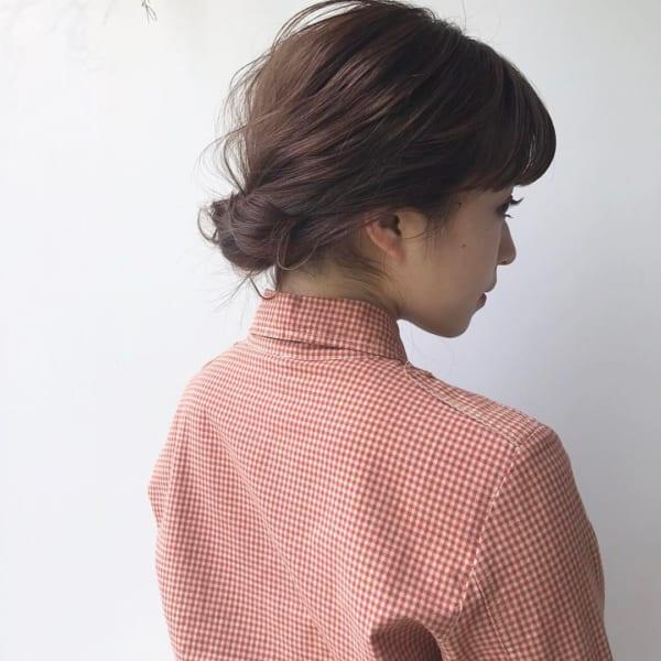 ミディアムのまとめ髪②シニヨン2