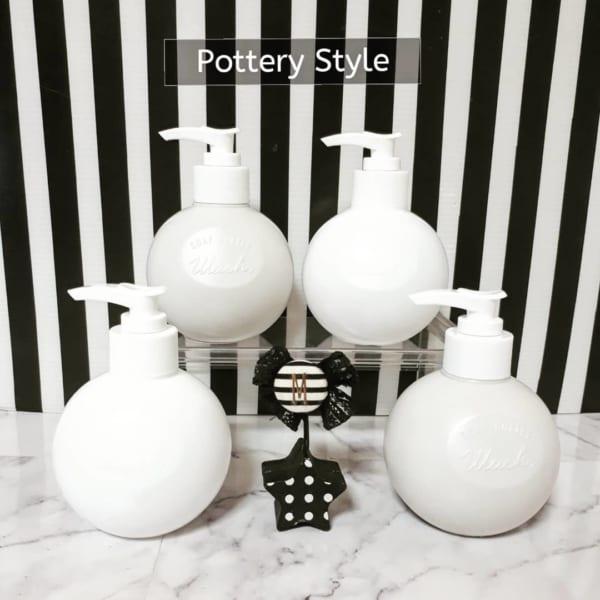 陶器風ポンプボトル
