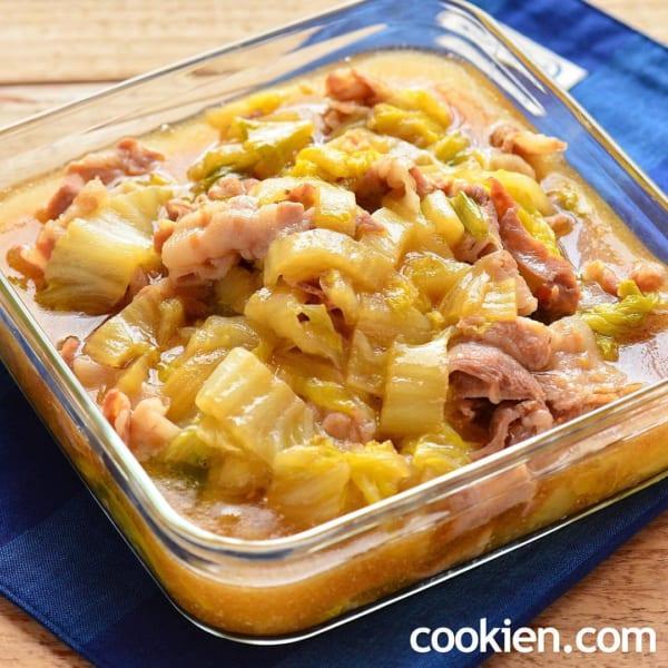 人気の豚ばら肉と白菜のうま煮