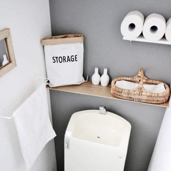 トイレ 見せる収納4