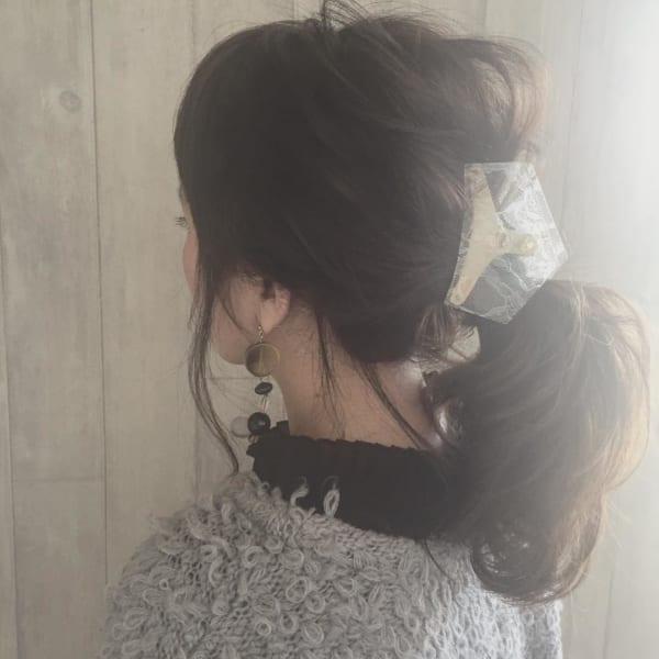 ロングヘアのまとめ髪①ポニーテール・編み込み18