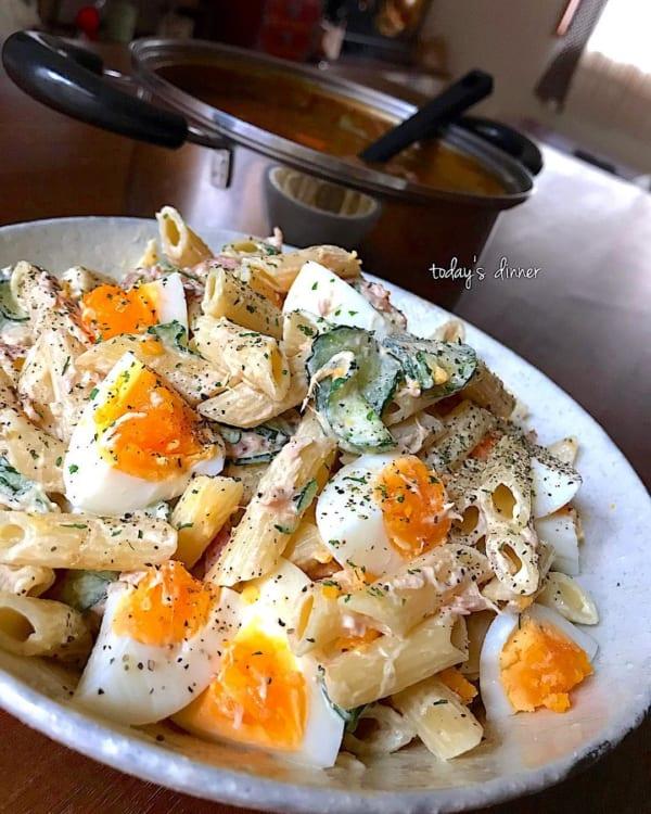 デパ地下風マカロニとゆで卵のマヨネーズサラダ