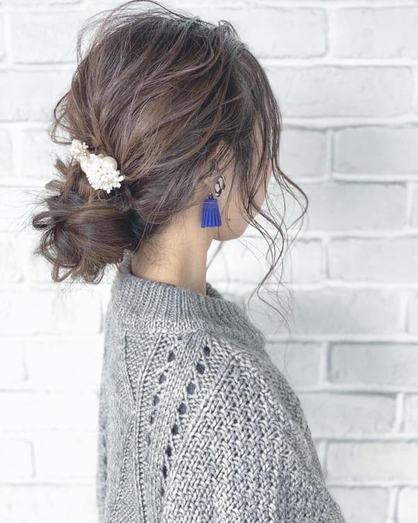 ロングヘアのまとめ髪②シニヨン