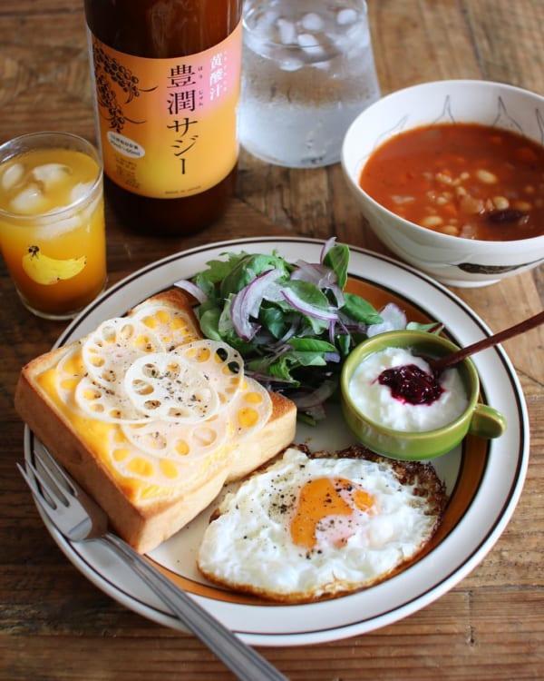 【レシピ付き】レンコンチーズトースト