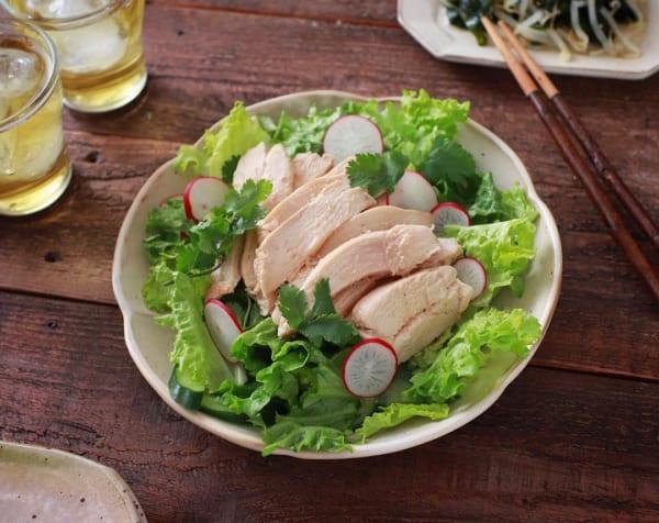 鶏むね肉で簡単!中華風サラダチキン