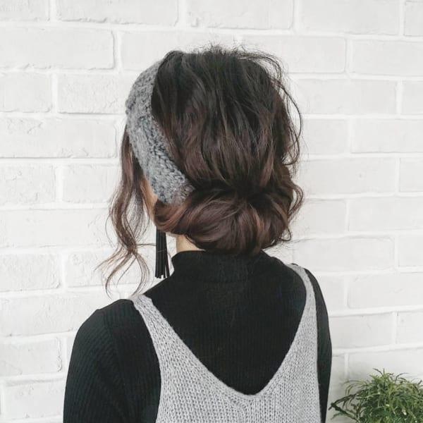 ロングヘアのまとめ髪②シニヨン6