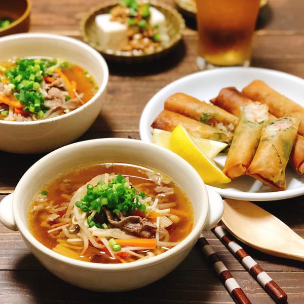 牛肉と野菜の中華スープ