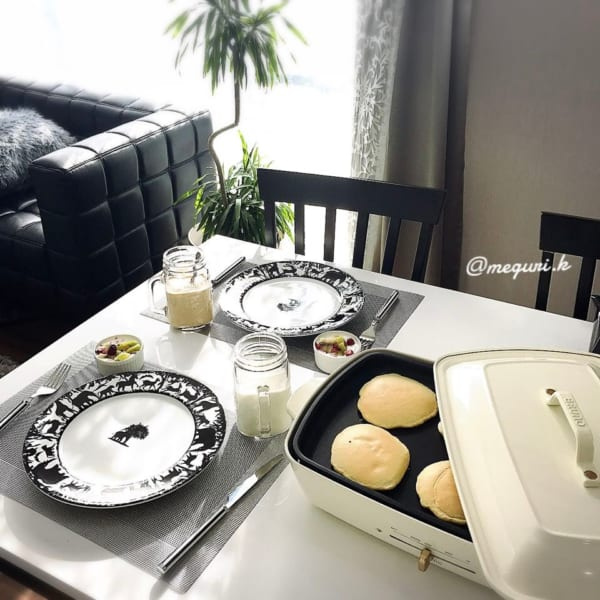 朝食にもおやつにもホットケーキ