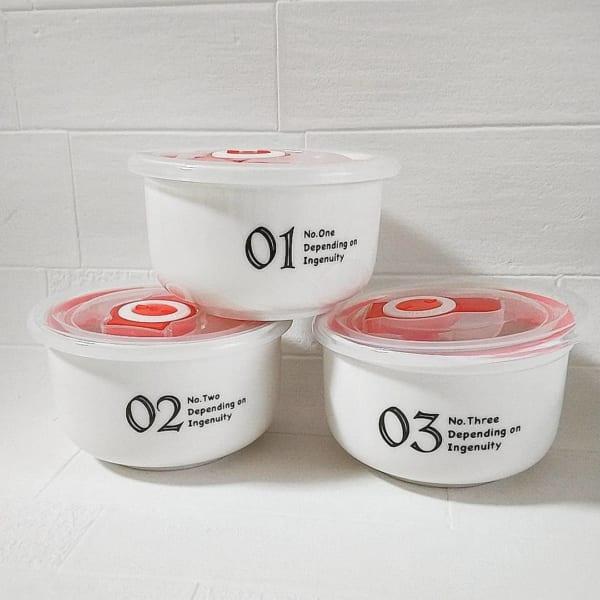 ダイソー 陶器タッパー