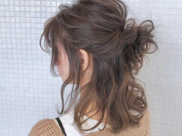 ミディアムのまとめ髪③ハーフアップ7