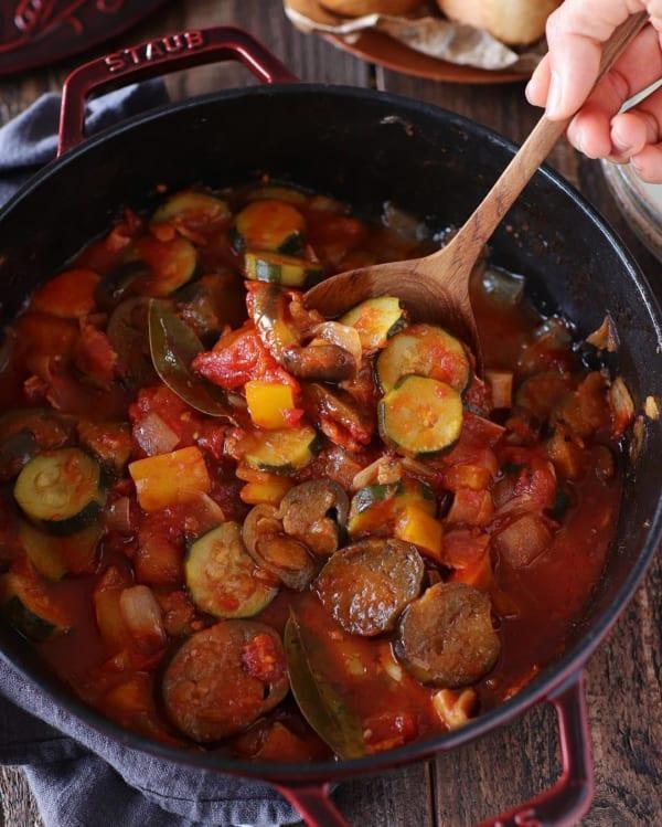 【レシピ付き】彩り野菜のラタトゥイユ