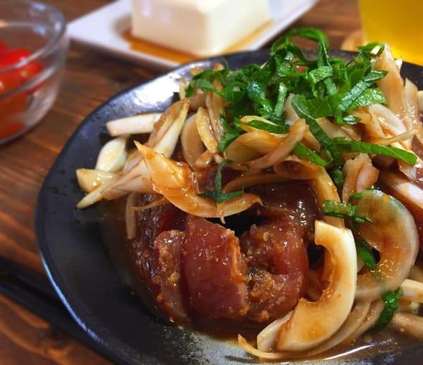 カツオと玉ねぎの中華風