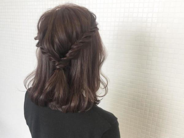 ミディアムのまとめ髪③ハーフアップ10