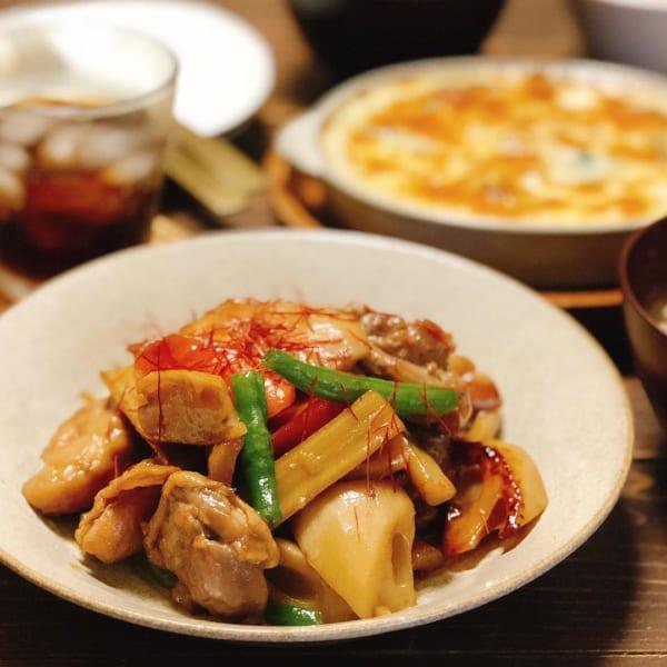 鶏肉と根菜のさっぱり煮物