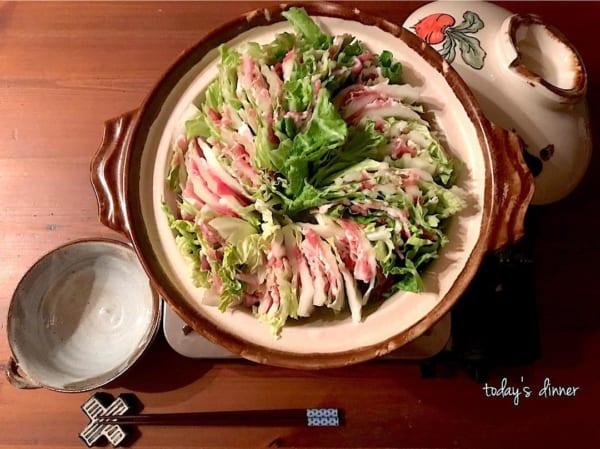 父の日 白菜と豚肉のミルフィーユ鍋