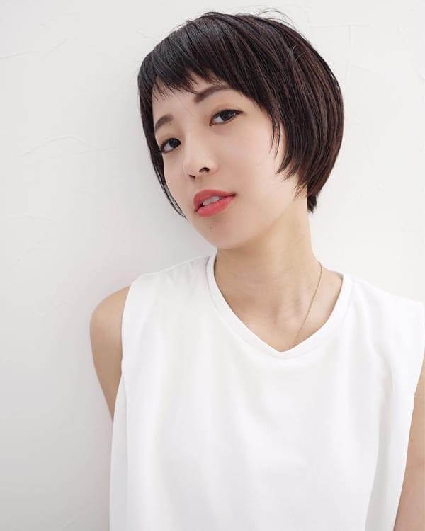40代の【ショートヘア】×前髪あり ぱっつん前髪2