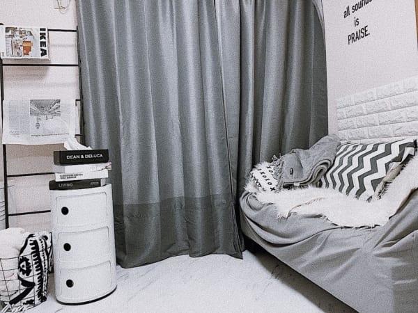 円筒形がお部屋に柔らかな雰囲気を