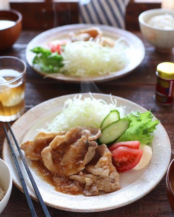 豚ロース肉のショウガ焼き