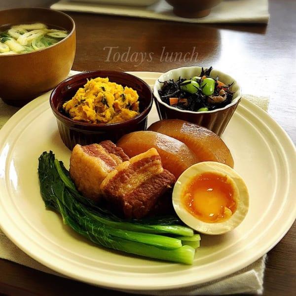 和食の定番!豚の角煮は梅酒と好相性