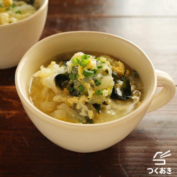 春雨で食べるスープ