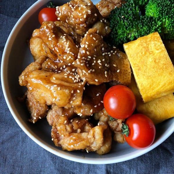 父の日 鶏からの甘辛ダレ炒め
