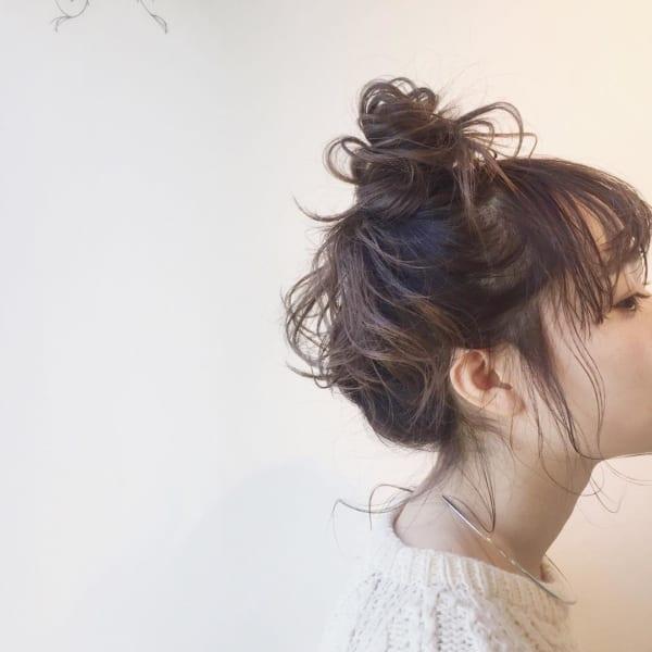 ミディアムのまとめ髪⑤お団子3