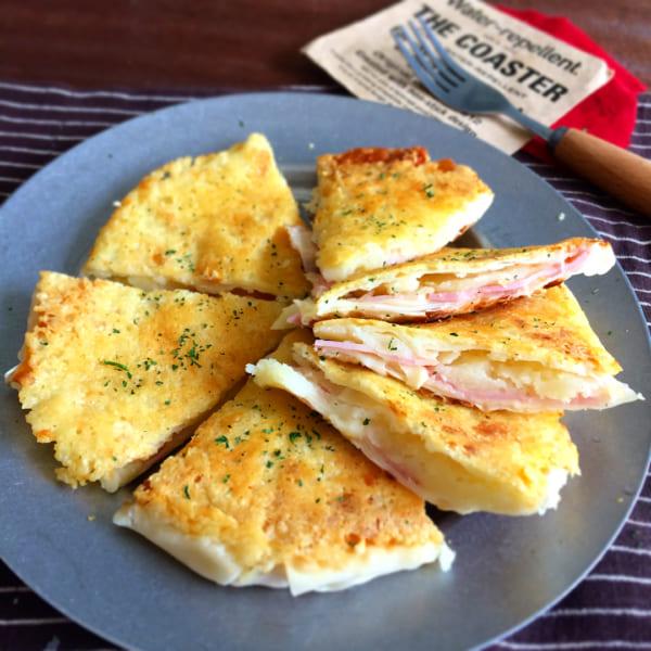 カリカリチーズのポテトベーコンサンド