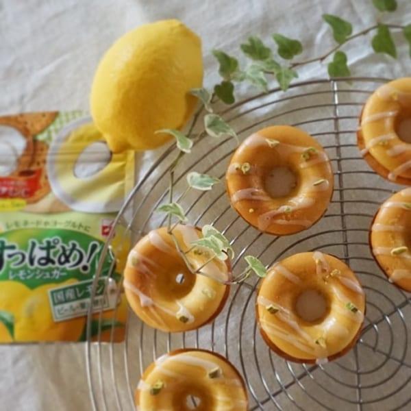 レモンシュガーの焼きドーナツ
