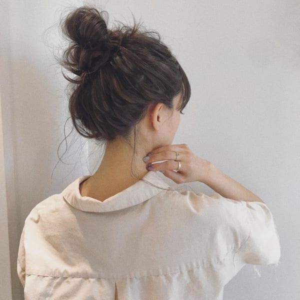 ミディアムのまとめ髪⑤お団子4