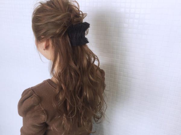 ロングヘアのまとめ髪③ハーフアップ12