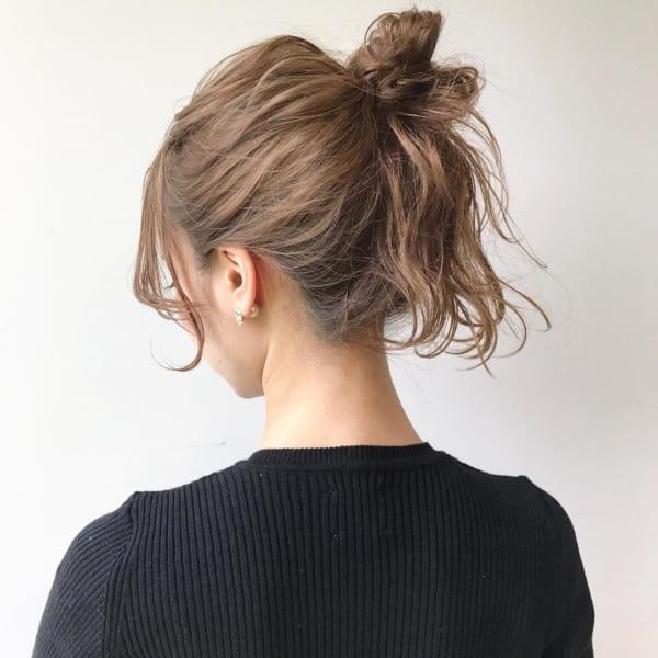 ミディアムのまとめ髪⑤お団子5