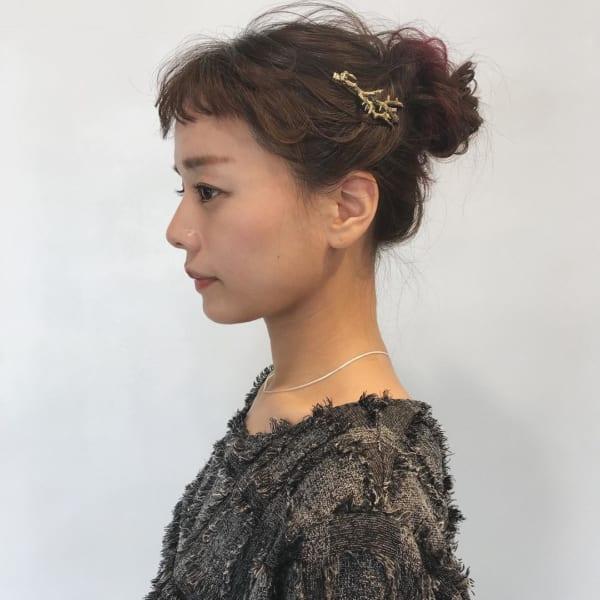 ミディアムのまとめ髪⑤お団子7