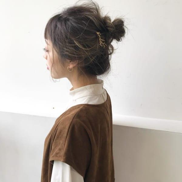 ミディアムのまとめ髪⑤お団子8