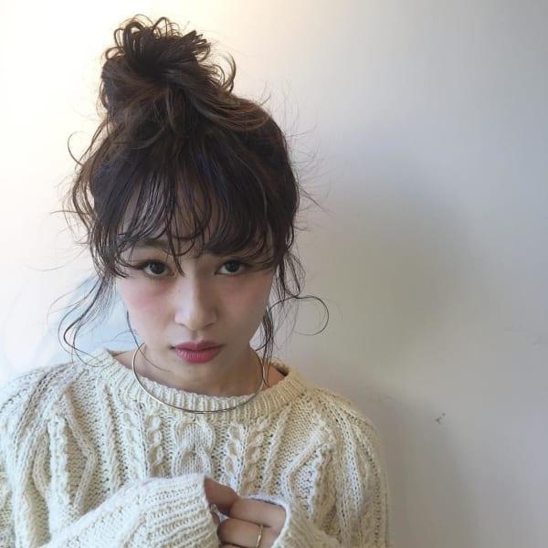 ミディアムのまとめ髪⑤お団子10