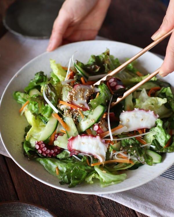 【レシピ付き】たことキュウリのチョレギサラダ