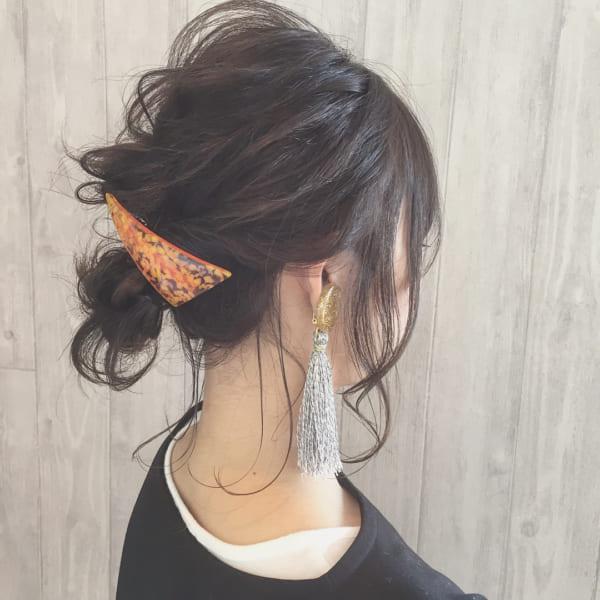 ミディアムのまとめ髪⑤お団子11