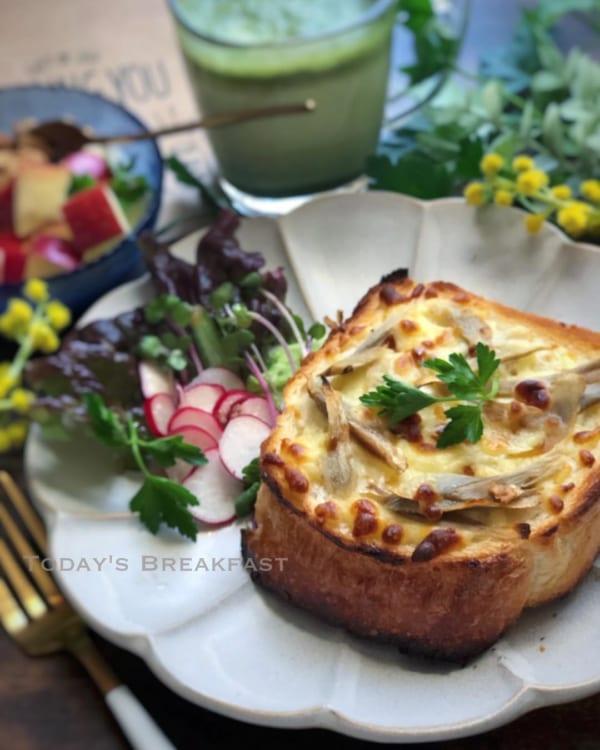 ごぼうチーズトースト
