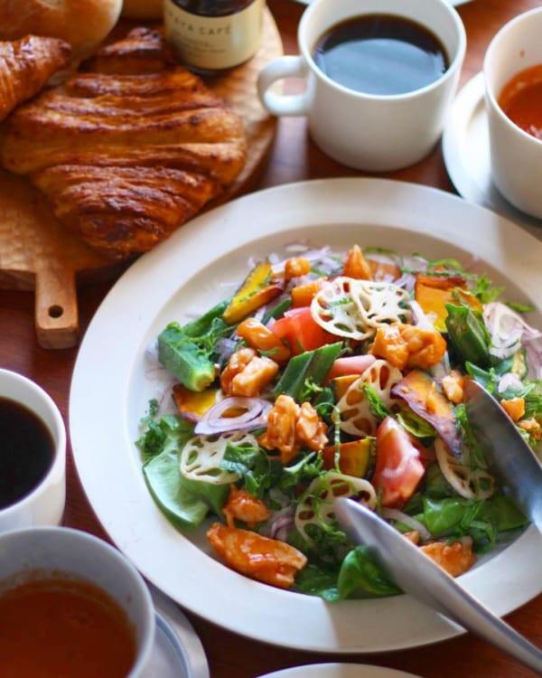 チリチキンのサラダ