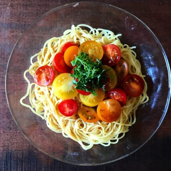 トマトが美味しい絶品冷製パスタ