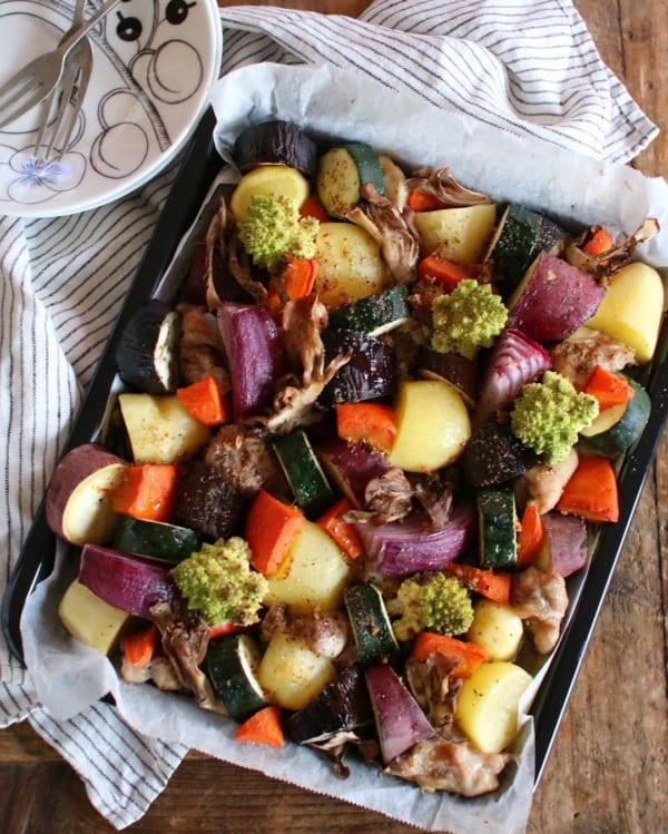 根菜たっぷりオーブン焼き