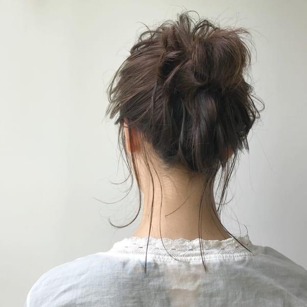 ミディアムのまとめ髪⑤お団子13