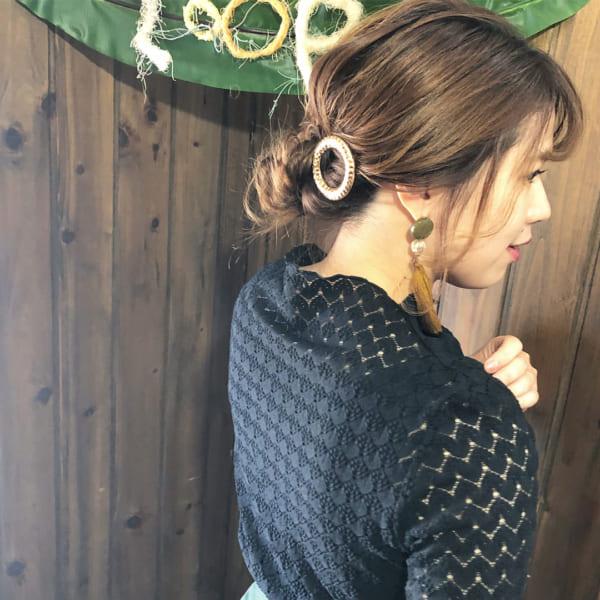 ロングヘアのまとめ髪⑤お団子3
