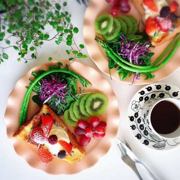 いちご&バニラアイスフレンチトースト